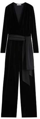 MANGO Velvet long jumpsuit