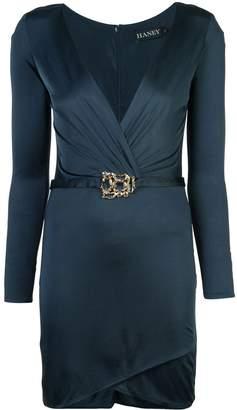 HANEY V-neck belted dress