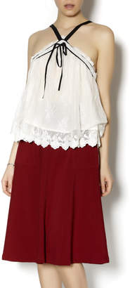 Free People Cream Lace Cami