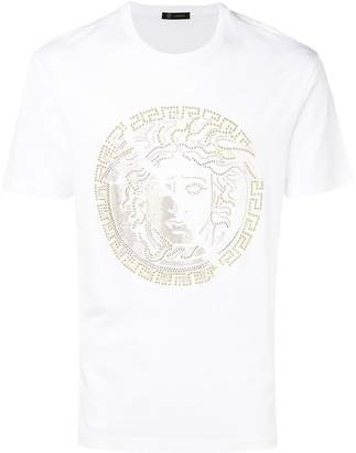 Versace studded medusa logo T-shirt