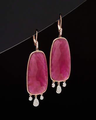 Meira T Meria T 14K Rose Gold 26.57 Ct. Tw. Ruby Drop Earrings