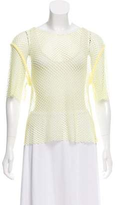 MM6 MAISON MARGIELA Fishnet Short Sleeve Top