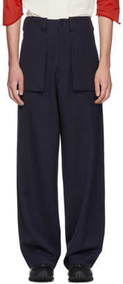 J.W.Anderson Navy Large Pocket Trousers