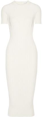 Helmut Lang - Cutout Ribbed Stretch-knit Midi Dress - large $575 thestylecure.com