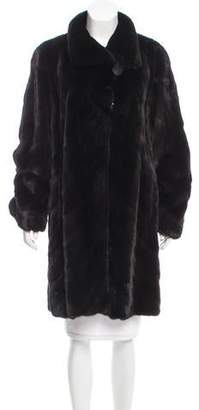 Couture Bisang Mink Knee-Length Coat