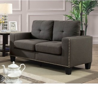 Furniture of America Contemporary Redford Nailhead Love Seat