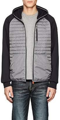 Save The Duck SAVE THE DUCK MEN'S JERSEY-SLEEVE CHANNEL-QUILTED JACKET