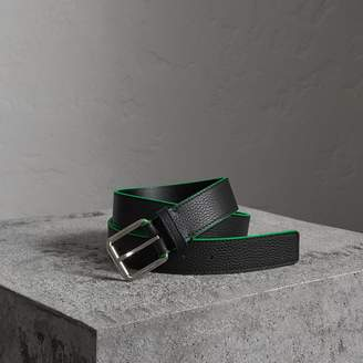 Burberry Contrast Detail Leather Belt
