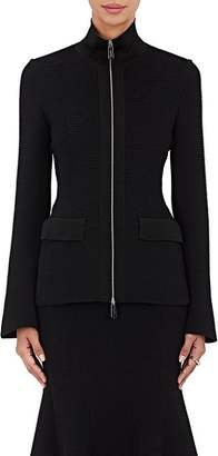 Giorgio Armani Women's Ottoman-Knit Zip-Front Jacket $3,295 thestylecure.com