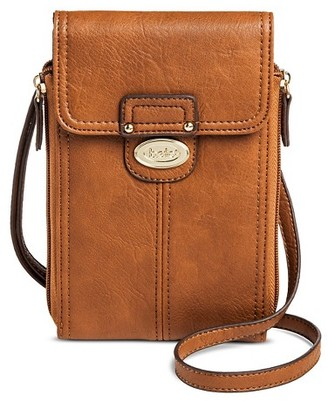 Bolo Women's Faux Leather Wallet with Back/Interior Compartments - Saddle $19.99 thestylecure.com