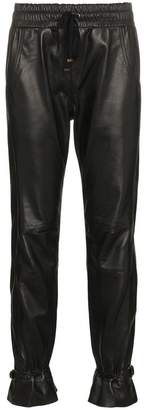 Skiim gaby high-waisted leather track pants