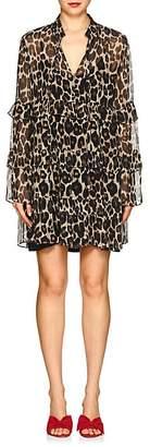 Robert Rodriguez Women's Leopard Silk Chiffon Shift Dress