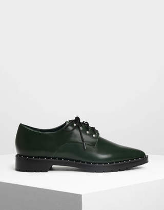 Charles & Keith Embellished Derby Shoes