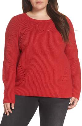 Lucky Brand Crewneck Pointelle Sweater