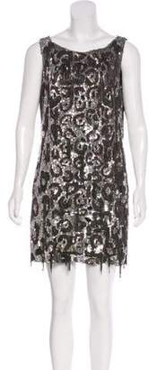 Valentino Sequined Chain-Link Dress