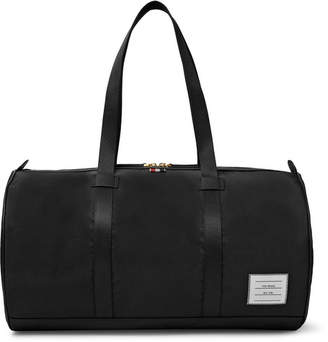 Leather-Trimmed Nylon Holdall