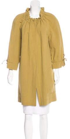 Fendi Belted Knee-Length Coat w/ Tags