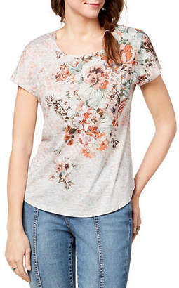 Co STYLE AND Short-Sleeve Floral Tee