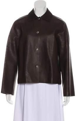 Hermà ̈s Laser-Cut Leather Jacket silver Hermà ̈s Laser-Cut Leather Jacket