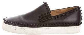 Christian Louboutin Studded Slip-On Sneakers