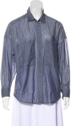 IRO Oversize Button-Up Top