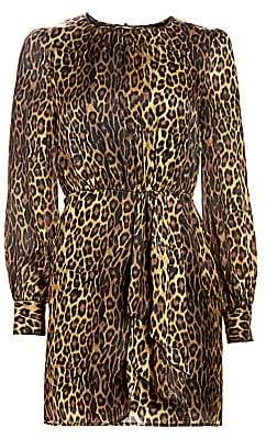 The Kooples Women's Silk Leopard Blouson Dress
