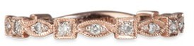 Lorde Jewlery 'Square and Eye Flatty' diamond 18k rose gold ring