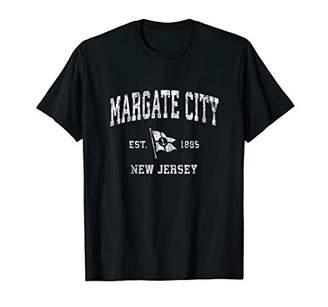 Margate City NJ Vintage Nautical Boat Anchor Flag Sports T-Shirt