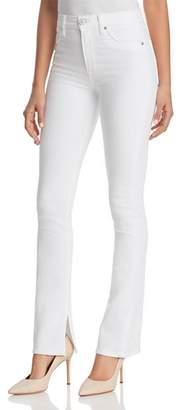 Hudson Heartbreaker High-Rise Bootcut Jeans in Optical White