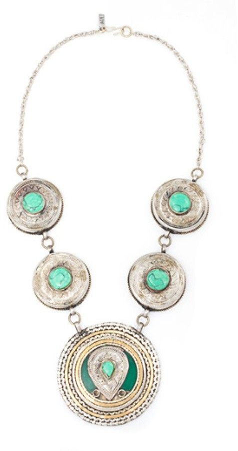 Vanessa Mooney The Malithus Statement Necklace in Silver