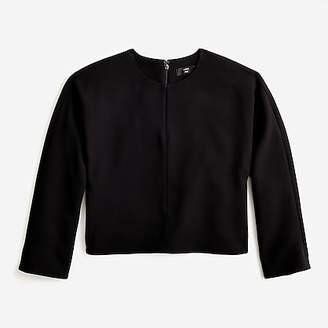 J.Crew Cropped long-sleeve top in 365 crepe