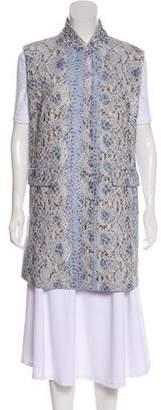 Ermanno Scervino Embellished Printed Vest