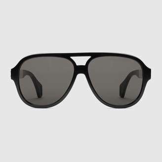 652fb4b857 Gucci Aviator sunglasses with stripe
