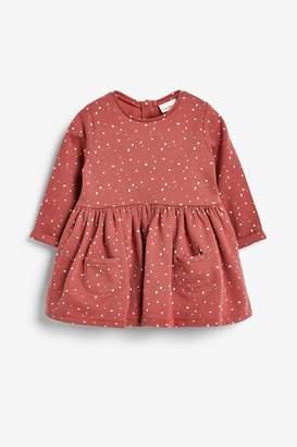 Next Girls Rust Sweat Dress (0mths-2yrs) - Brown