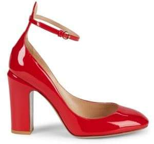 13e73f0cab0 Valentino Tango Patent Leather Block Heel Pumps
