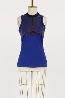 adidas by Stella McCartney Leopard print running tank top