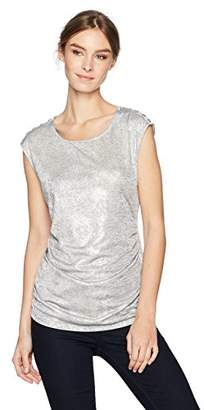 Calvin Klein Women's Sleeveless Metallic Snake Top