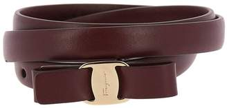 Salvatore Ferragamo Belt Belt Buckle Adjustable Vara Rainbow In Genuine Smooth Leather