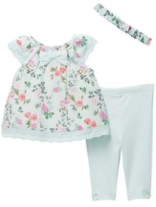Little Me Botanical Tunic Set (Baby Girls)