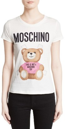 Women's Moschino Teddy Bear Logo Tee $225 thestylecure.com