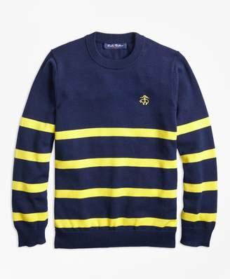 Brooks Brothers Boys Cotton Stripe Crewneck Sweater