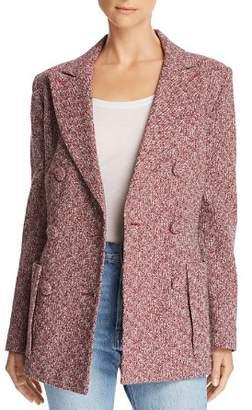 Ksenia Schnaider Double-Breasted Tweed Blazer