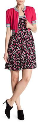 Love Moschino Watermelon Printed Dress & Cropped Jacket - 2-Piece Set