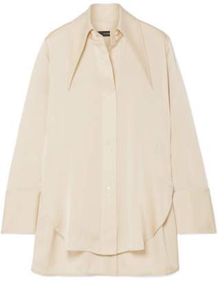 Ellery Bilbao Stretch-silk Satin Shirt - Cream