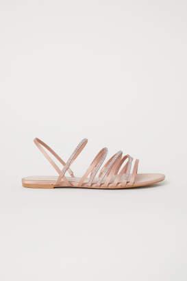 H&M Sandals with Rhinestones - Beige