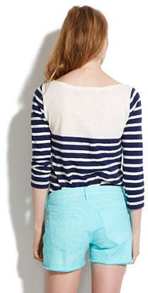 Madewell Denim Cutoff Shorts in Seaside Blue