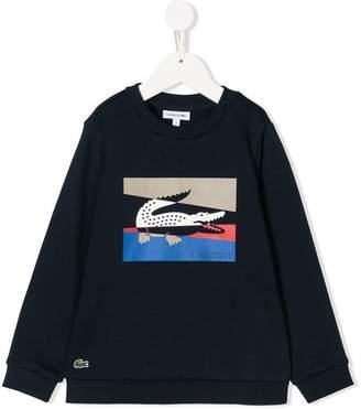 Lacoste (ラコステ) - Lacoste Kids colourblock crocodile sweatshirt