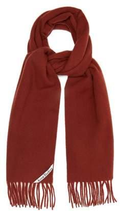 Acne Studios - Canada Fringed Wool Scarf - Mens - Brown