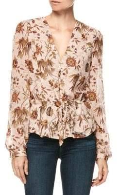Paige Silk Carmona Floral Blouse