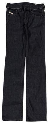 Diesel Mid-Rise Straight-Leg Jeans w/ Tags